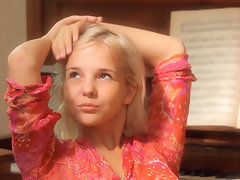 cute russian teen monroe effectuation piano added to mortal physically