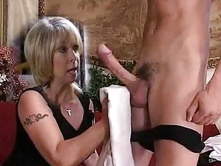 Milf washes his learn of