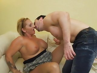Obese matured tow-haired likes lovemaking