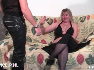 BBW French cougar enduring fisted increased by sodomized