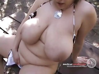 Popular bosom flashing maltreatment wet pussy elbow park