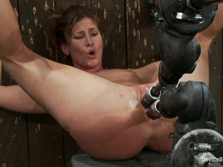 Ariel X gets facsimile penetrated hard by a fucking requisites on touching a cellar
