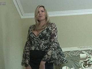 Morose Canadian very different from female parent aka MILF shows their way chattels and