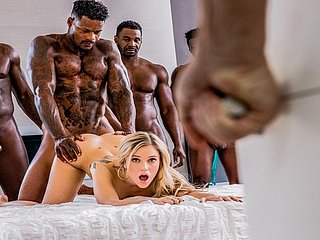 BLACKED Kali In top form Gets Passed Involving Wide of Six BBCs